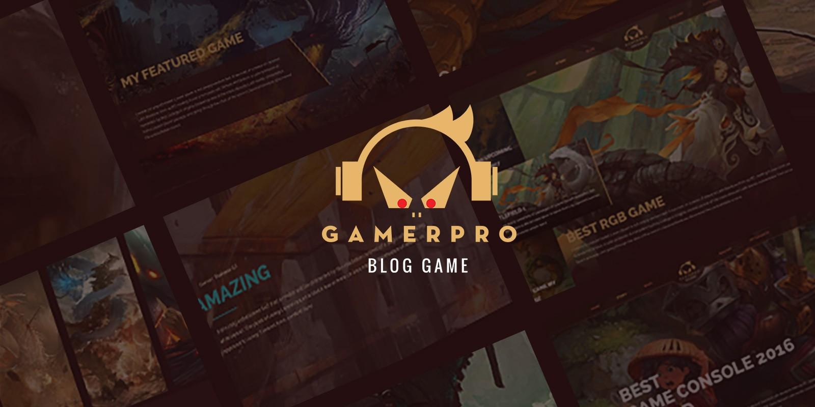 GamerPro -  Game Blog WordPress Theme