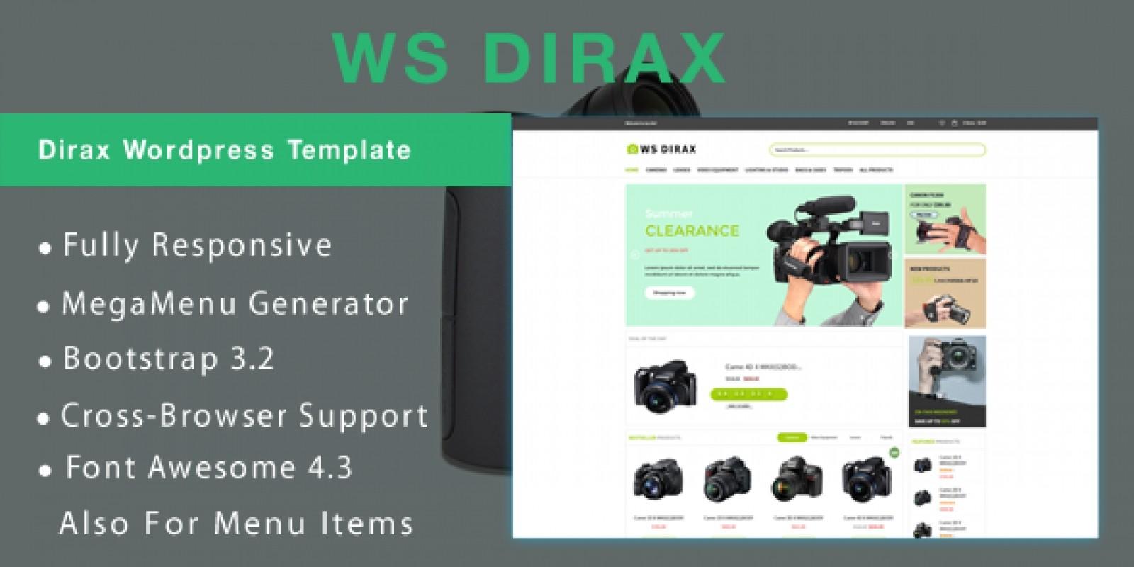 WS Dirax - Camera Woocommerce WordPress Theme