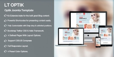 LT Optik  - Glasses Store Joomla Template