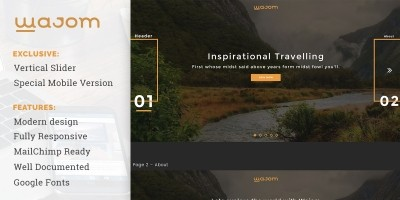 Wajom - Travelling Website Template