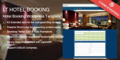 LT Hotel Booking – Responsive Wordpress Theme