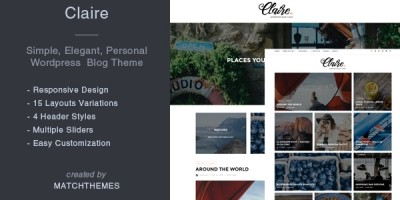 Claire - Personal Blogging WordPress Theme