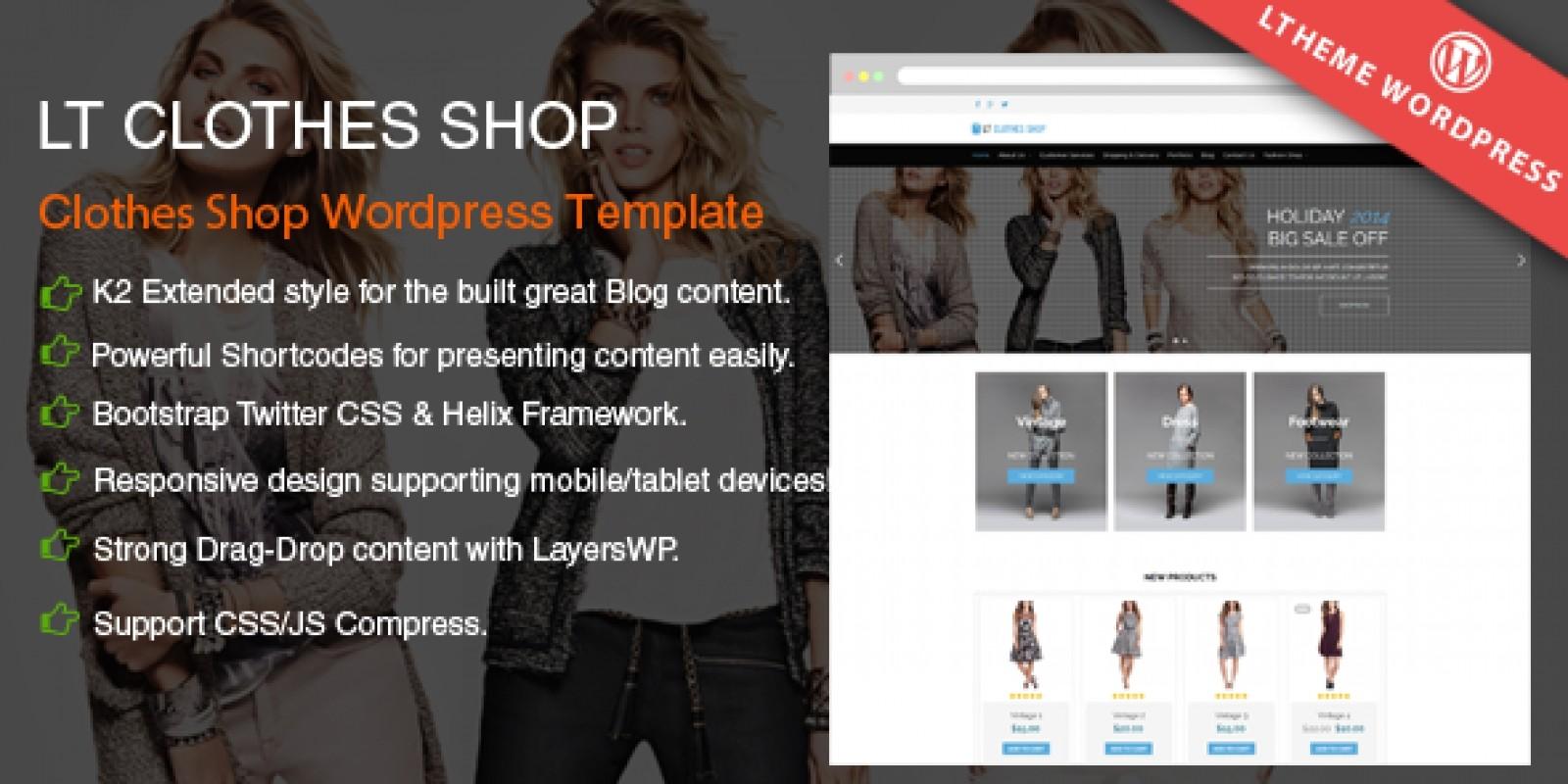 LT Shop - Online Shop Wordpress Theme