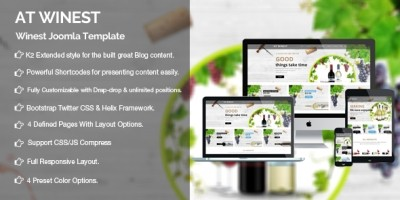 AT Winest - Wine Virtuemart Joomla Template