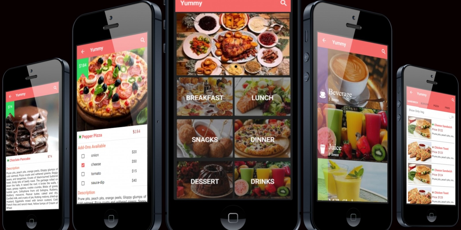 Restaurant Menu App - Full Ionic App Template