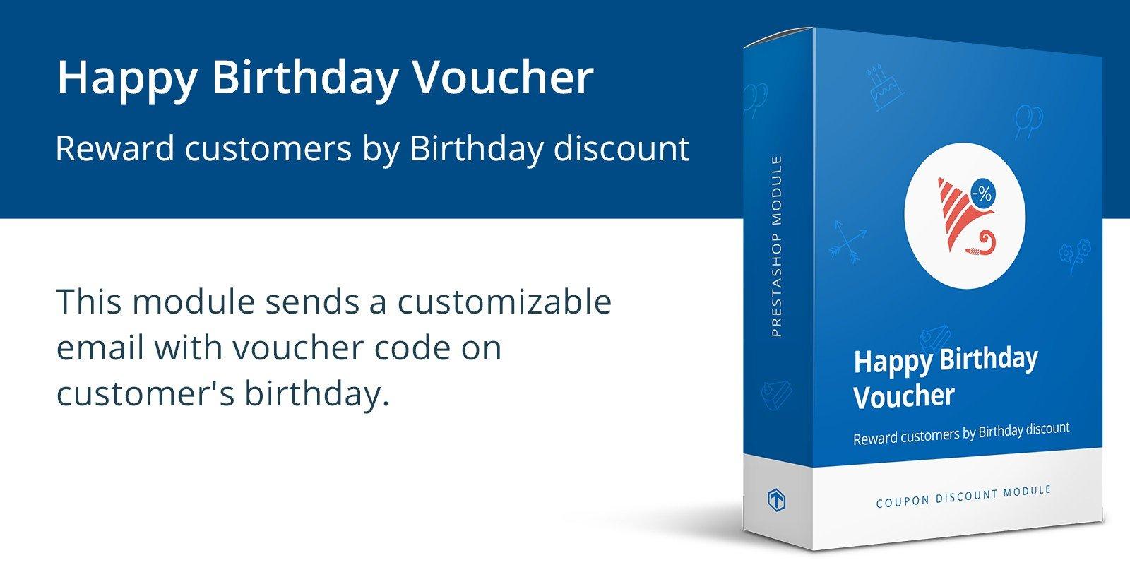 Happy Birthday Voucher - PrestaShop Module