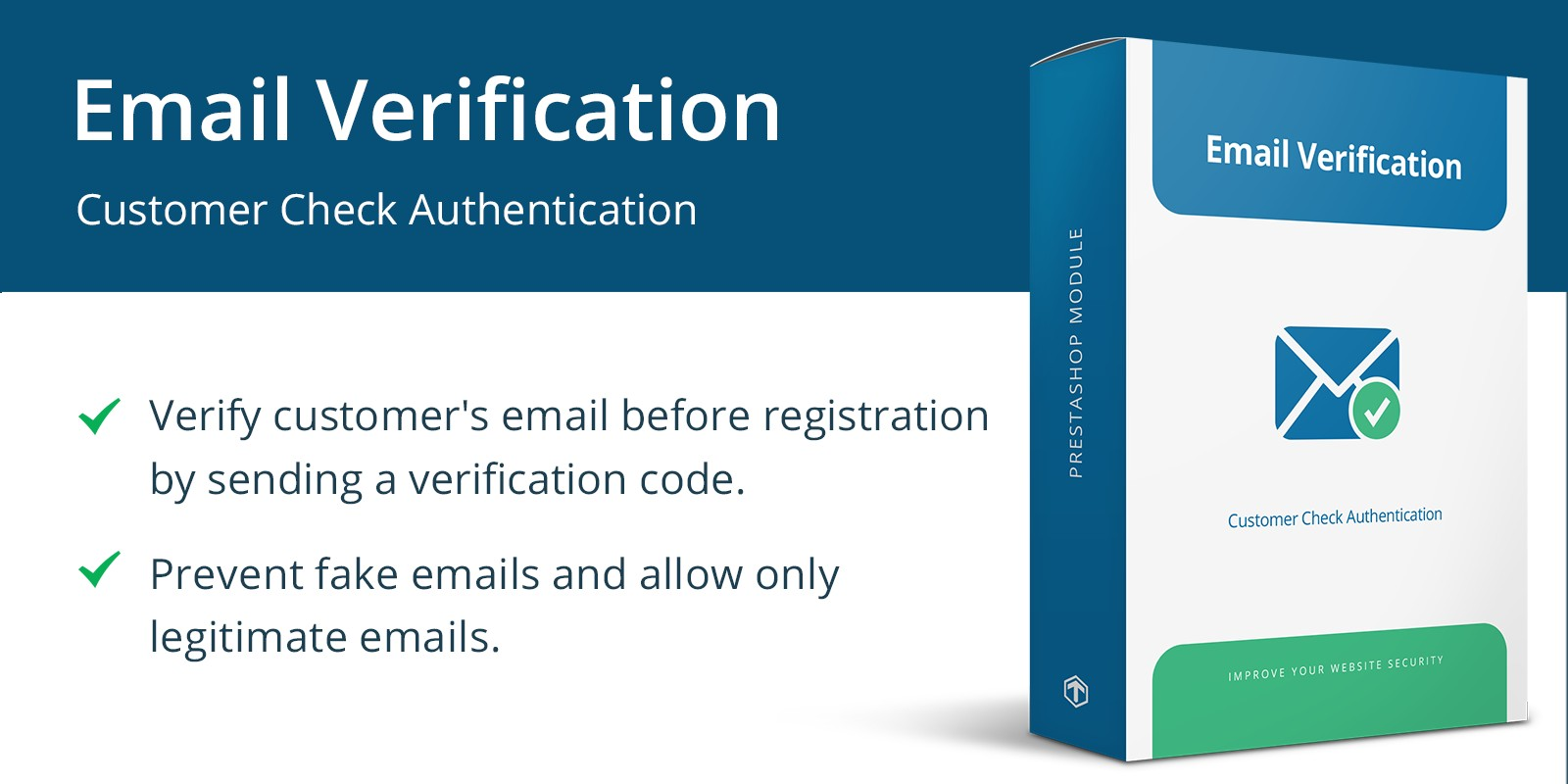 Email Verification - PrestaShop Module