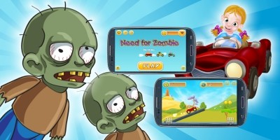Need For Zombie - Buildbox Game Template