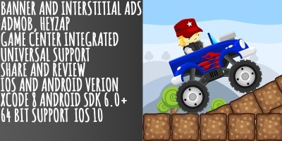 Monster Truck Stunts - Buildbox Game Template