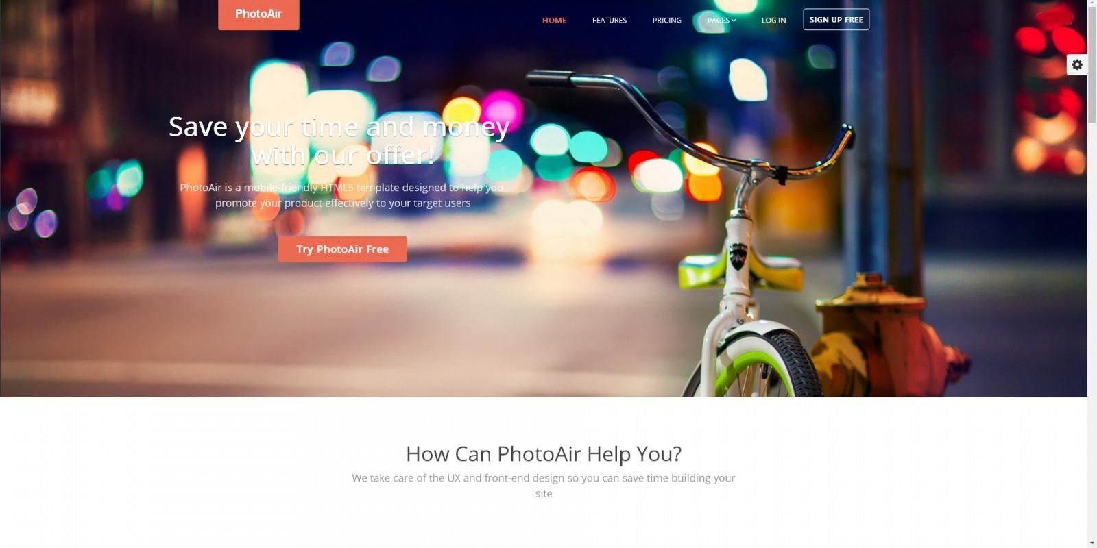 Photoair App Presentation Html Template Codester