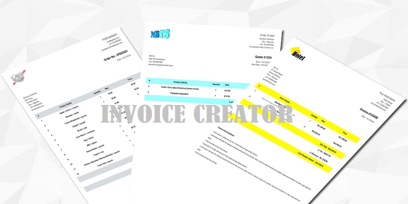 PHP Invoice Creator Script