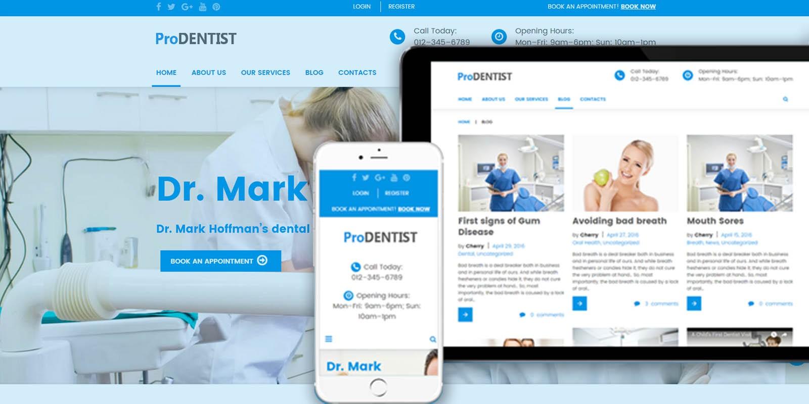 ProDentist - Medical WordPress Theme