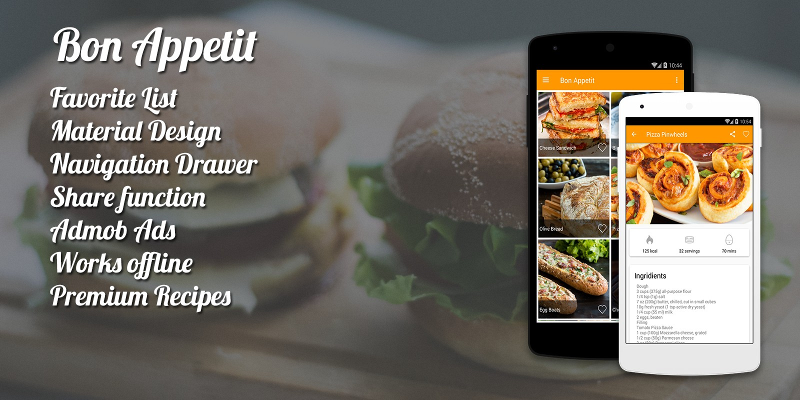 Bon appetit android recipes app source code android app bon appetit android recipes app source code forumfinder Choice Image