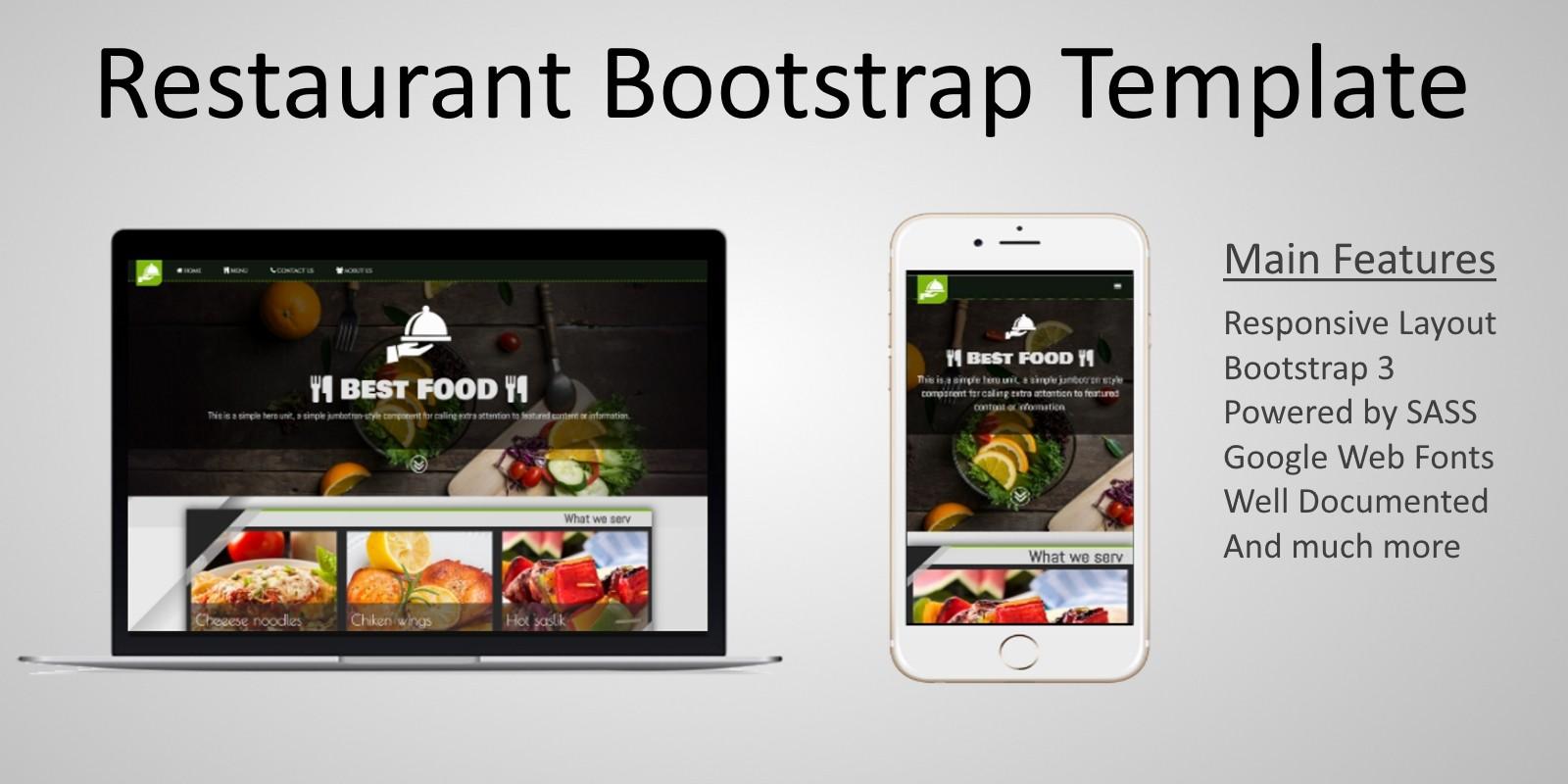 Restaurant Bootstrap Html Template Codester