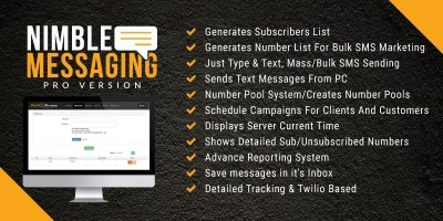 Nimble Messaging - SMS Platform PHP Script