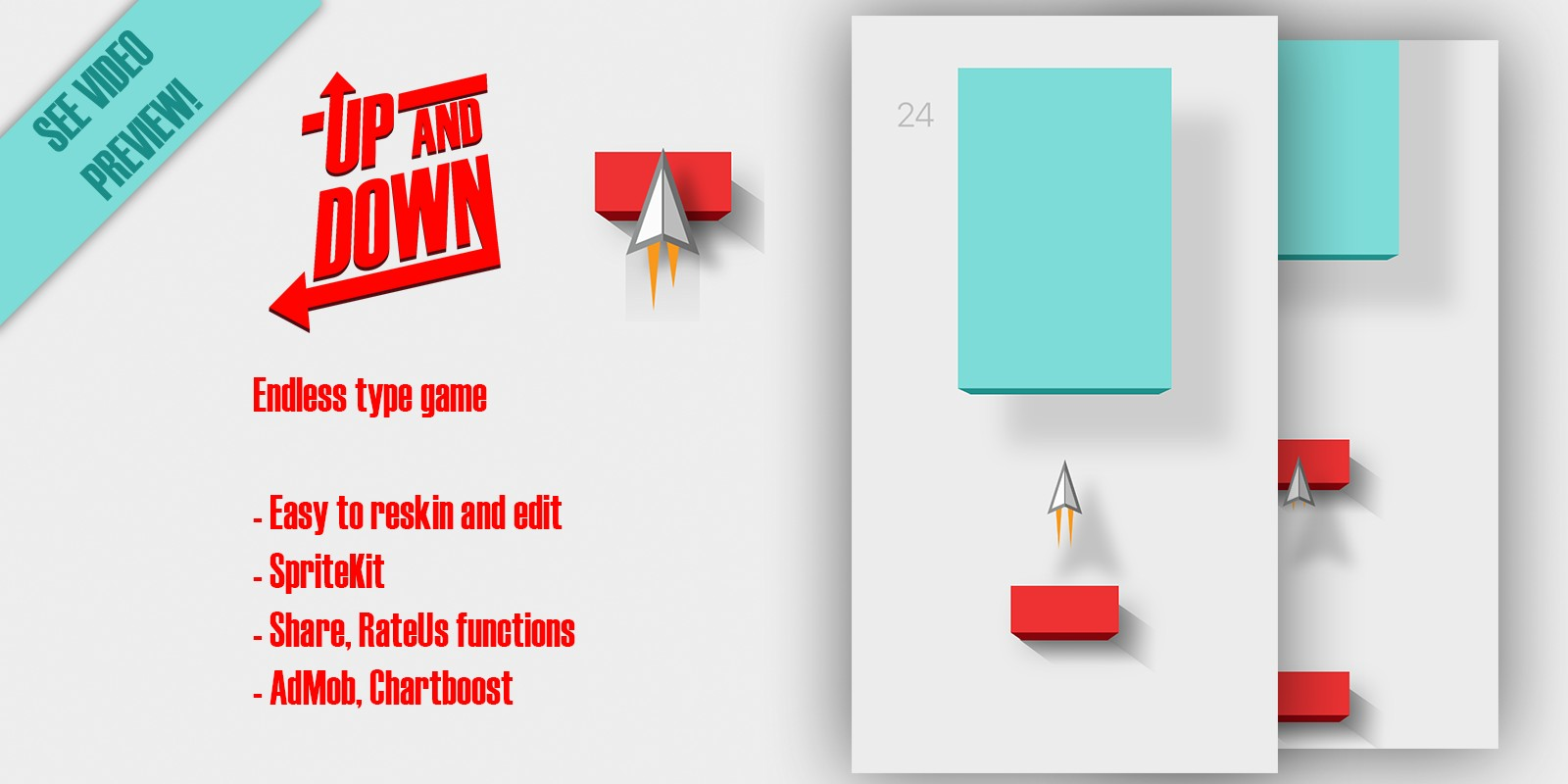 Up And Down - iOS Game Source Code