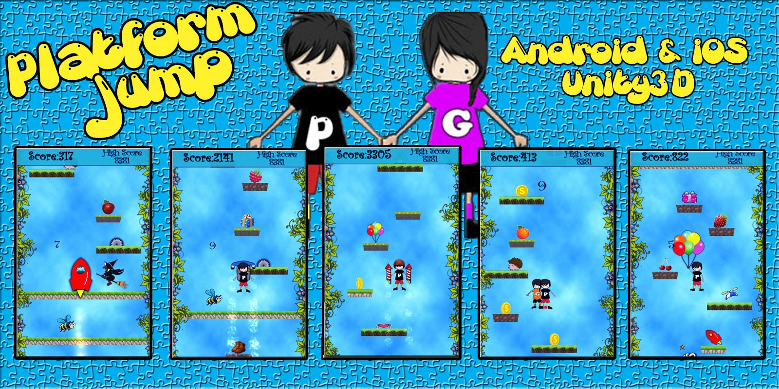 Platform Jump -Unity Game Source Code