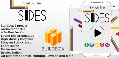 Switch The Sides - Buildbox Game Template