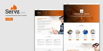 Servz Pro - Corporate Bootstrap Template