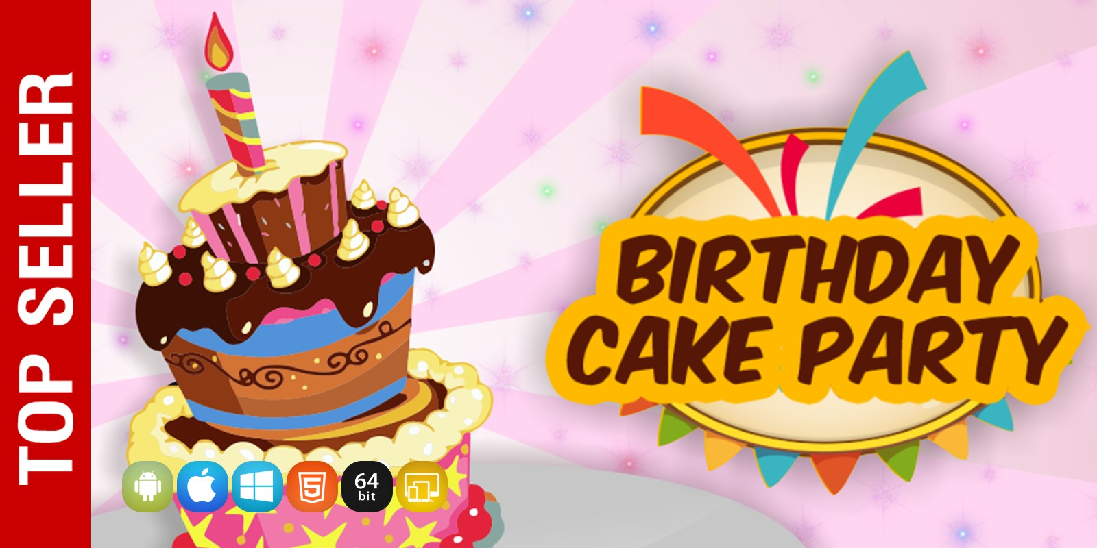 Birthday Cake Party Unity Game Source Code Codester