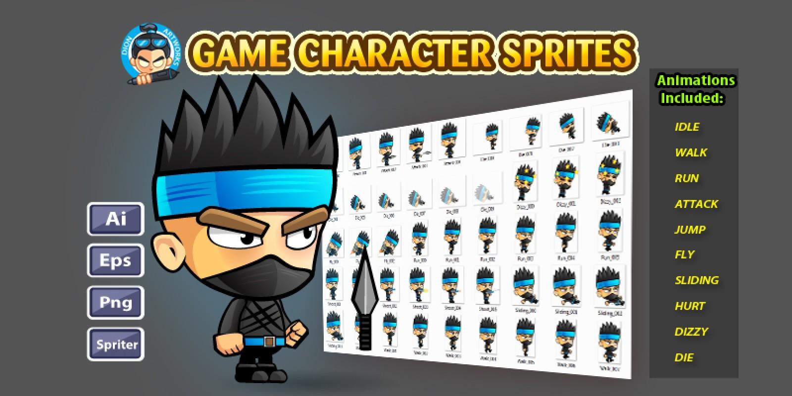 Ninja Game Character