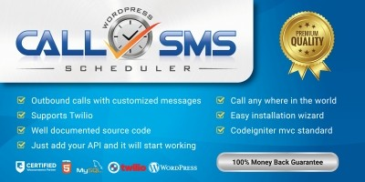 SMS And Calls Scheduler Wordpress Plugin