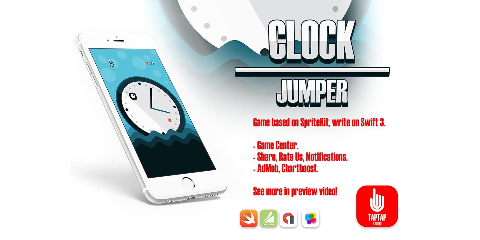 Clock Jumper - iOS Xcode Game Template
