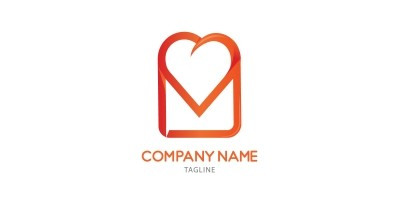 Love Message Logo Template