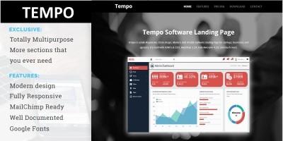 Tempo - Responsive Software Landing Page