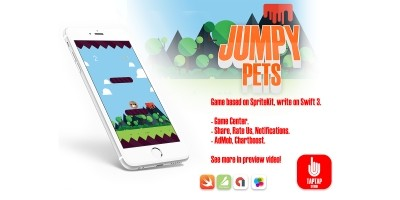 Jumpy Pets - iOS Xcode Source Code