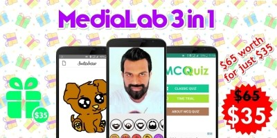 MediaLab 3 In 1 Android Source Codes Bundle