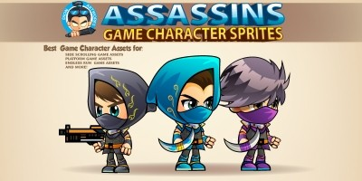 Assasins Game Character Sprites