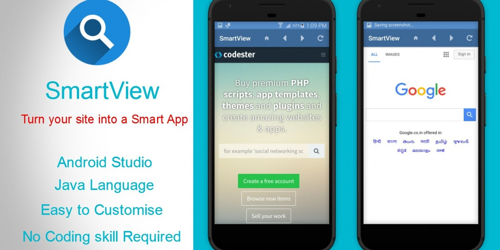 smartview webview app template for android