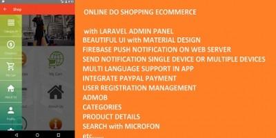 DoSHopping eCommerce App With Laravel Admin Panel