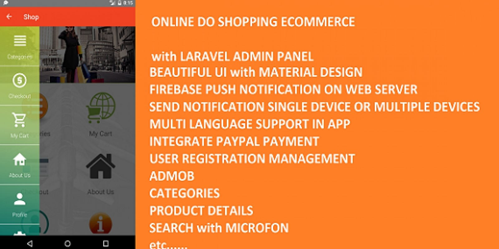 DoSHopping eCommerce App With Laravel Admin Panel