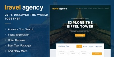Travel Agency - Hotel Booking HTML Template