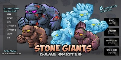 Stone Giants Game Sprites