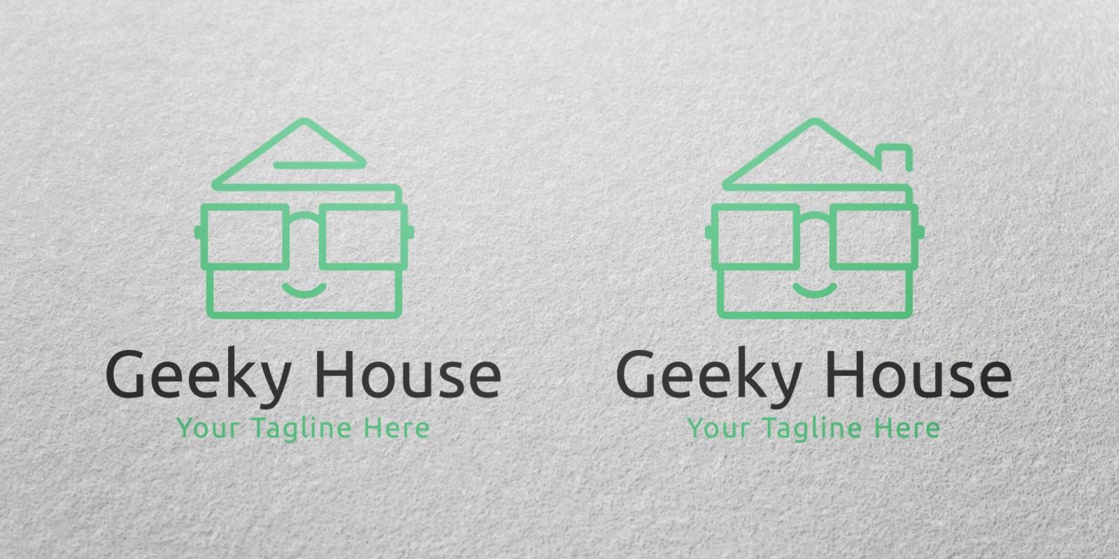 Geeky House Logo Template - Building Logo Templates | Codester