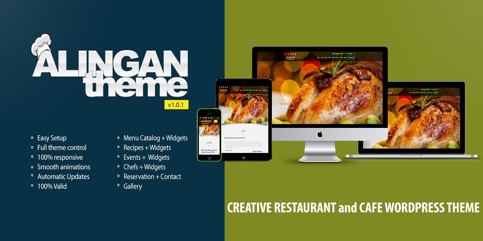 Alingan WordPress Restaurant Theme