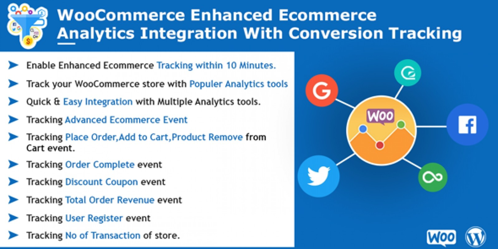 WooCommerce Enhanced Ecommerce Analytics