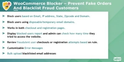 Woocommerce Blocker - Prevent fake orders