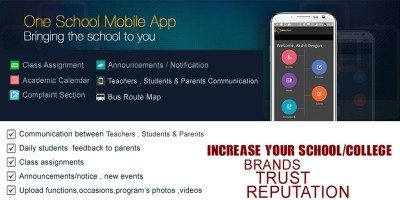 School Mobile App Source Code And PHP Backend