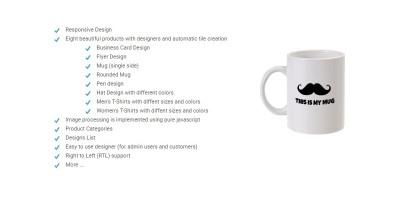 PHP Product Designer Script