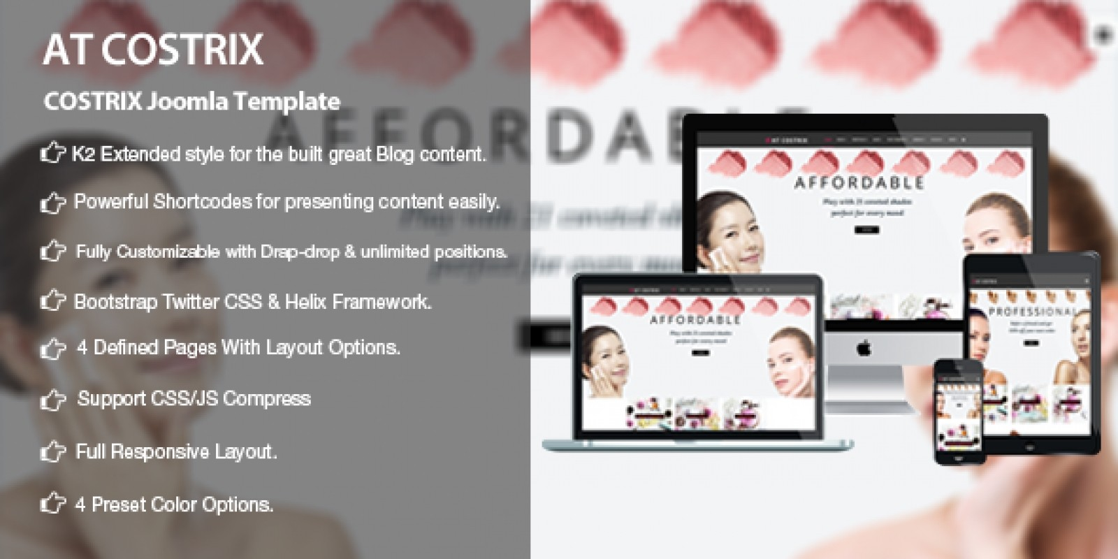 AT Costrix - Cosmetics Virtuemart Joomla Template