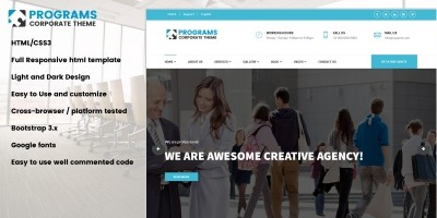 Programs HTML Business Template