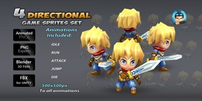 4-Directional Game Character Sprites 2
