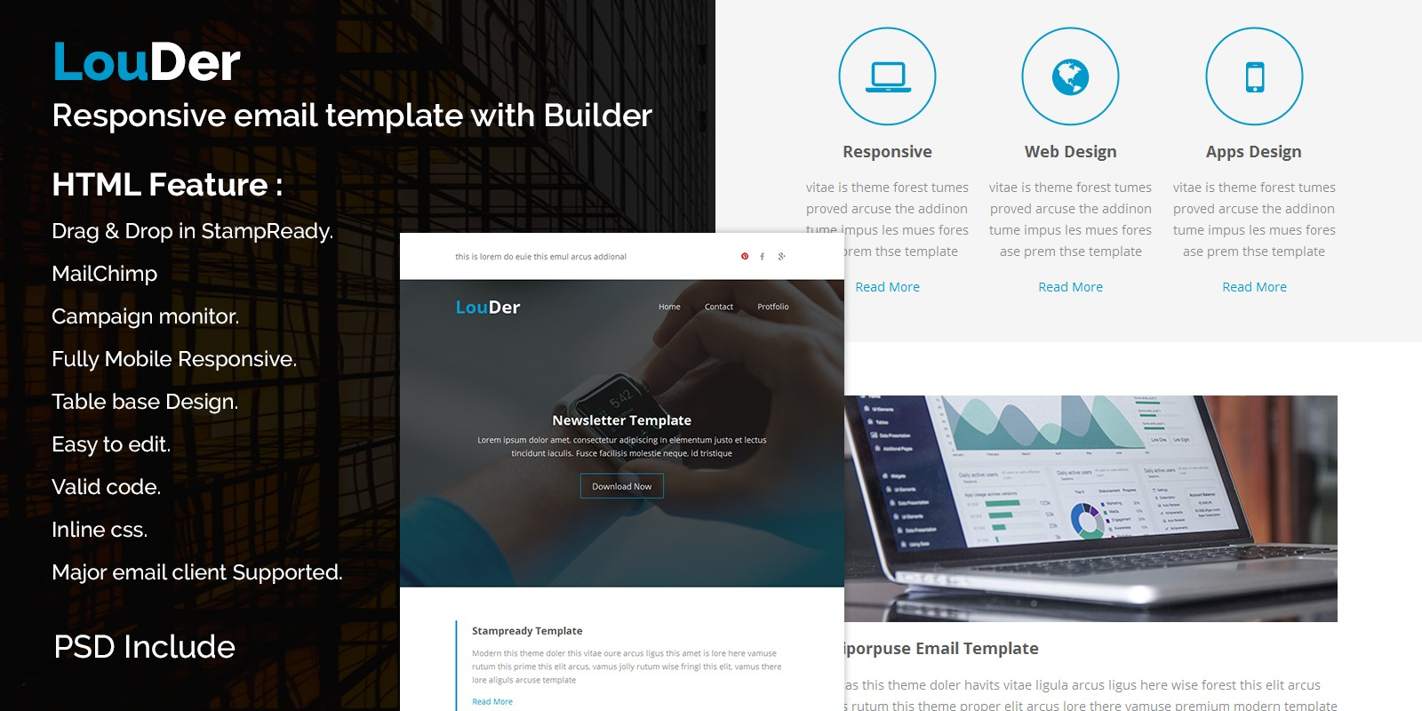 Louder   Responsive Email Template
