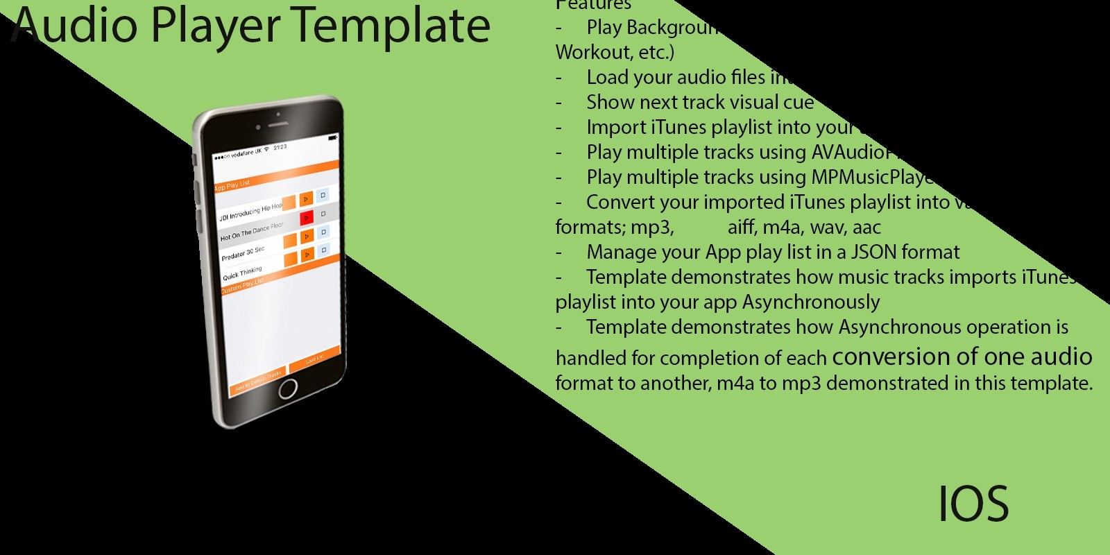 Audio Player Xcode iOS Template - Music App Templates For iOS | Codester