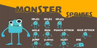 Monster Game Character Sprite Sheets