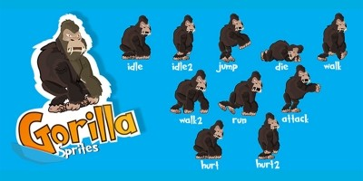 Gorilla Game Character Sprite Sheets